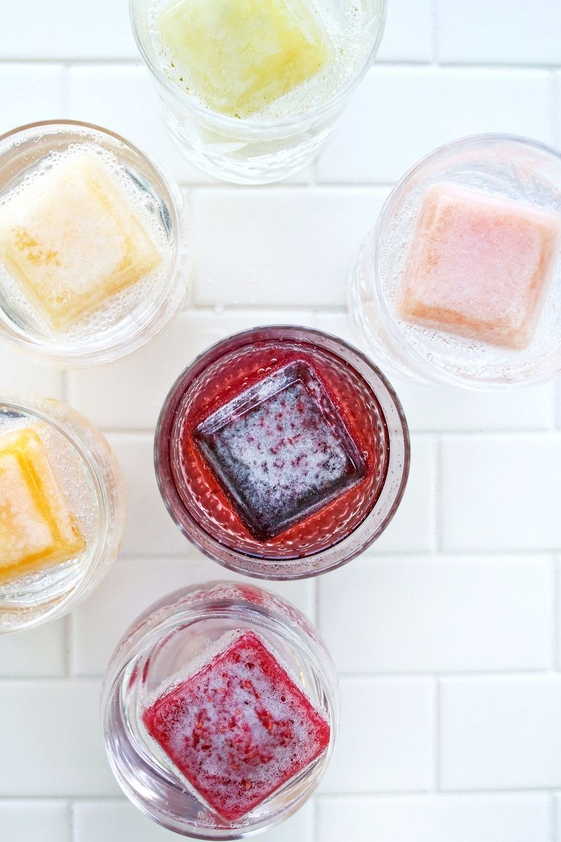Fruit-infused ice cubes