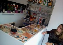 Fun way to create a lively bar counter!