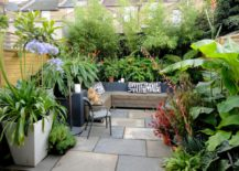 Garden oasis with ample plants 217x155 Transform Your Yard into a Garden Oasis