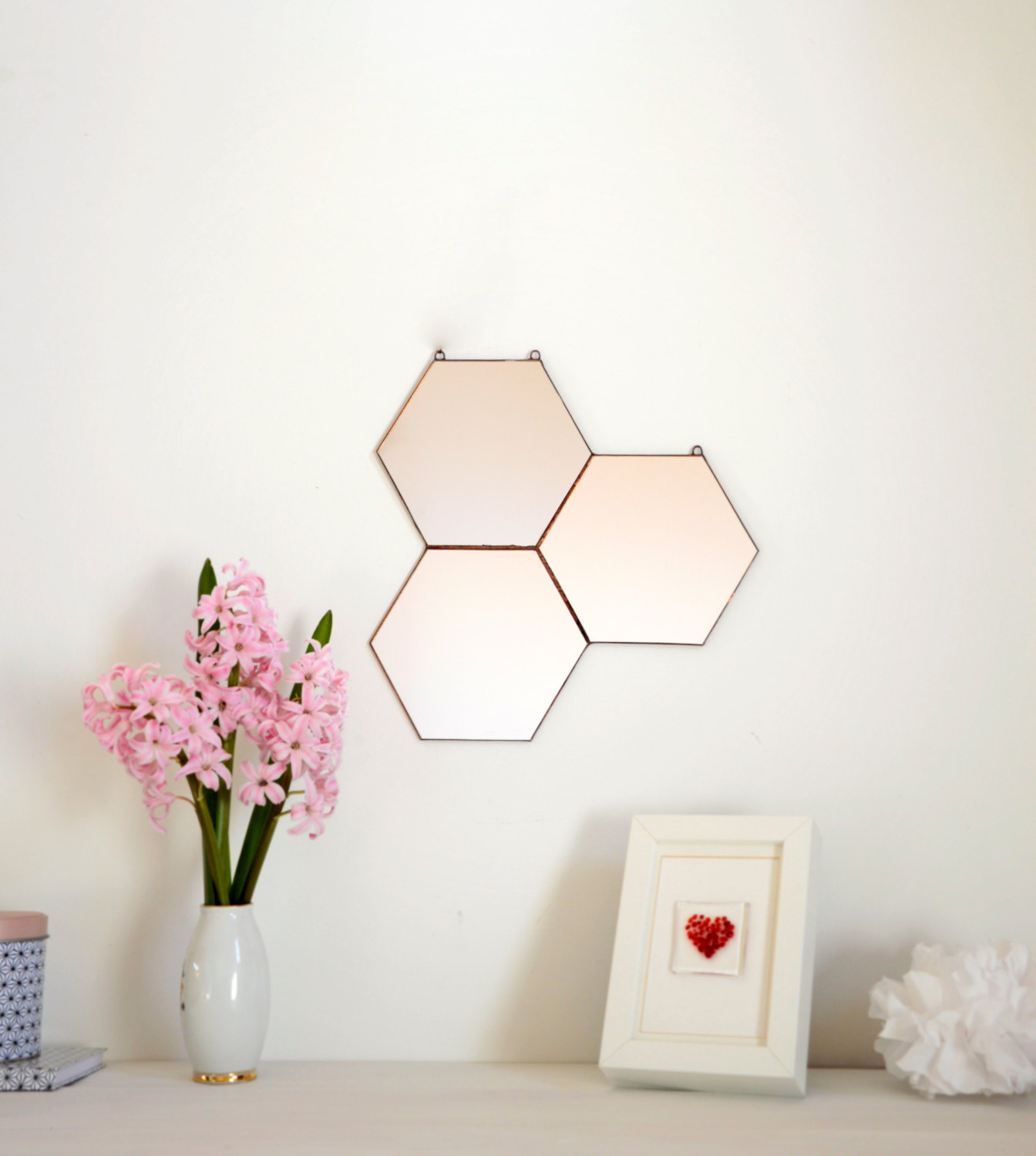 View In Gallery Geo Honeycomb Wall Mirror From Noja Glass Design