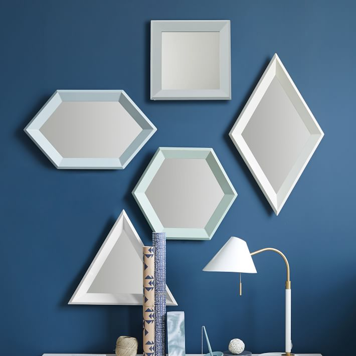 View In Gallery Geo Mirrors From West Elm
