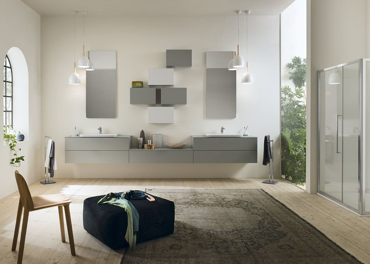 Give the bathroom a living room styled ambiance and comfort
