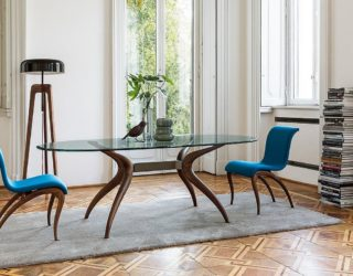 Dashing Duo: Trendy New Dining Tables Usher in Geometric Contrast