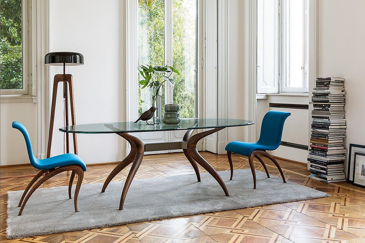 Gorgeous Retro dining table from Porada Dashing Duo: Trendy New Dining Tables Usher in Geometric Contrast
