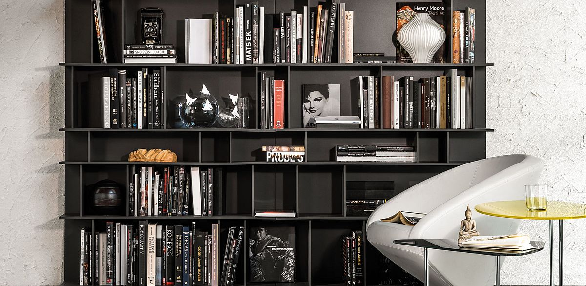 Gorgeous and adaptable bookshelf from Cattelan Italia with contemporary flair