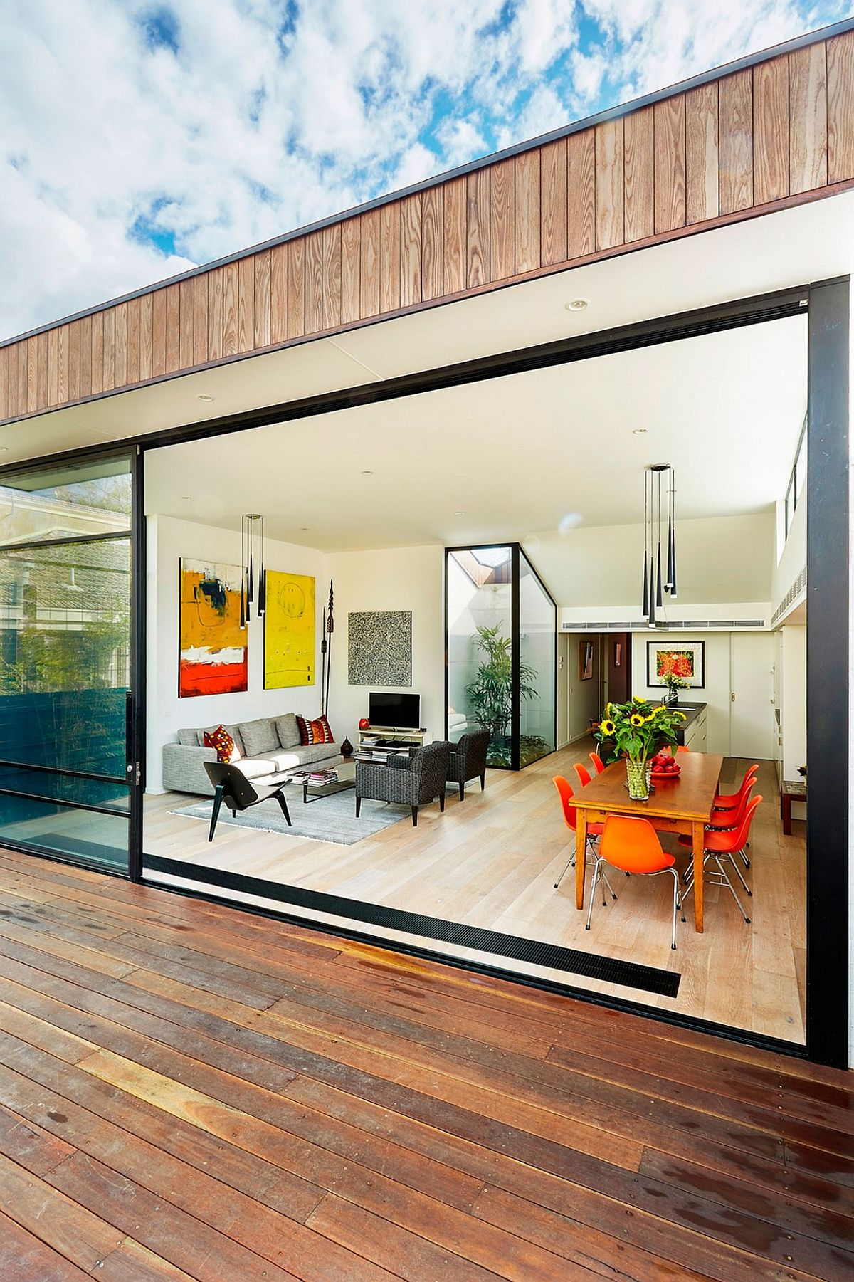 View In Gallery Gorgeous Internal Courtyard Brings Light Into The New  Living Area