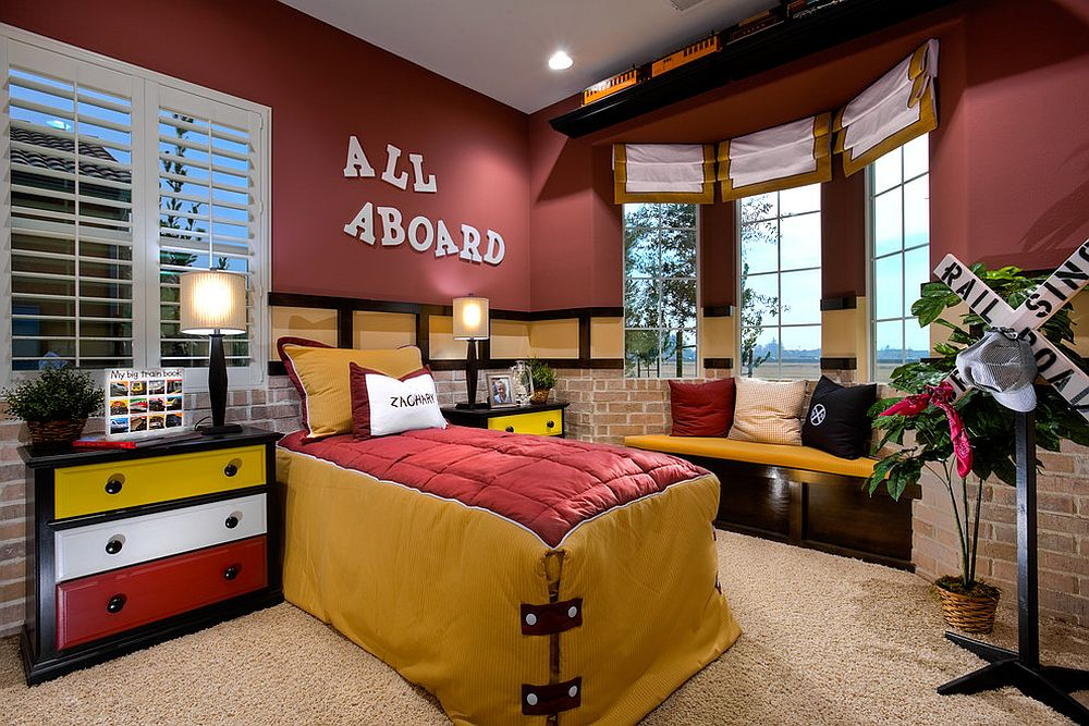 Gorgeous kids' bedroom full of character and color [Design: McCaffrey Homes]