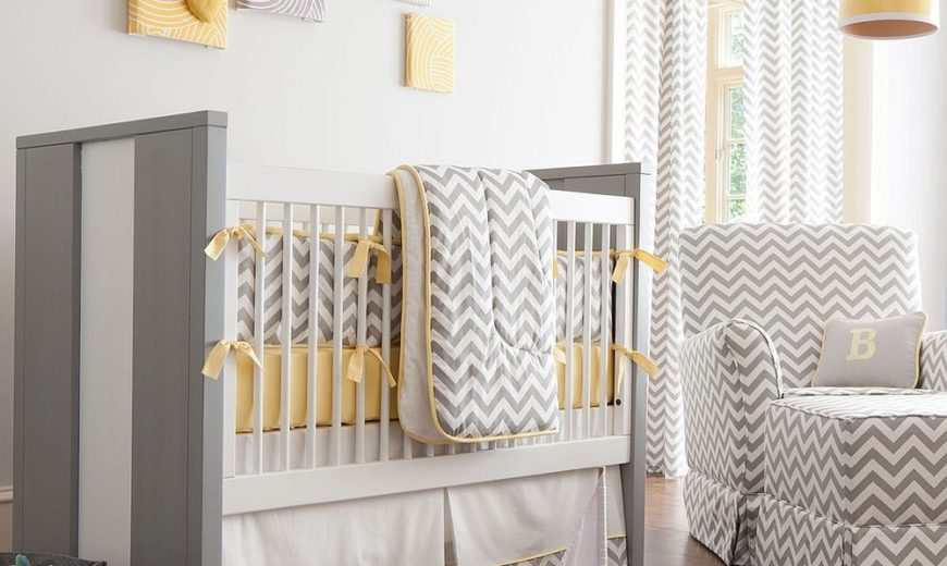 Refreshingly Refined: 20 Nurseries in Yellow and Gray