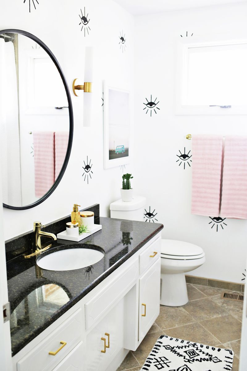 Guest bathroom from A Beautiful Mess