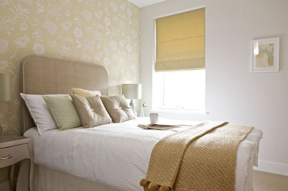 Guest room style in neutral tones