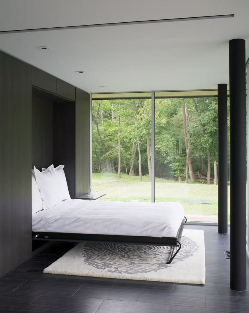 Guest room with a Murphy bed