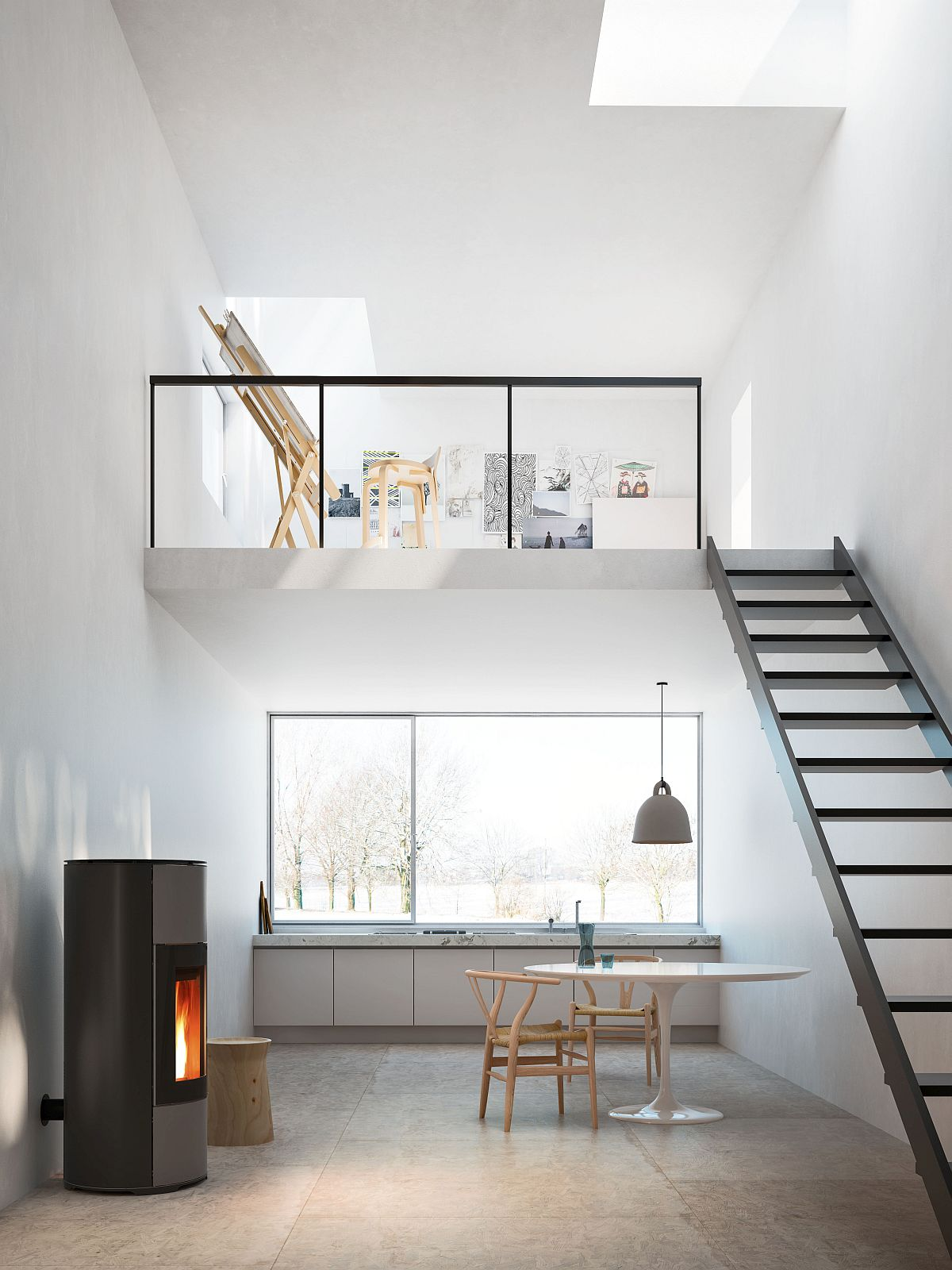 Halo - Forced ventilation pellet stove from MCZ