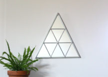 Handmade geometric wall mirror from Etsy shop Fluxglass