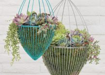 Hanging planters from CB2