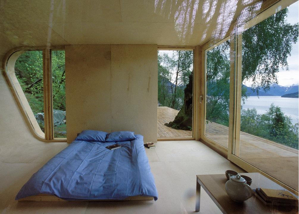 Hardanger Retreat's simple interior.