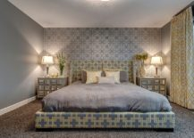 Headboard wall is the showstopper of this bedroom