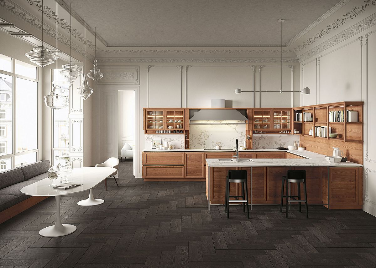 Heritage kitchen from Snaidero Heritage: Traditional and Modern Elements Fused by the Beauty of Wood