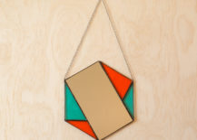 Hexagon mirror from Etsy shop Janel Foo Glassworks