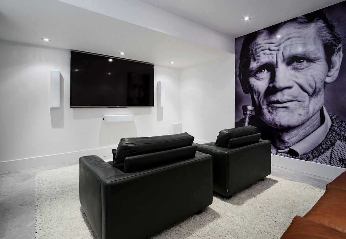 Home cinema with a giant print that stands out