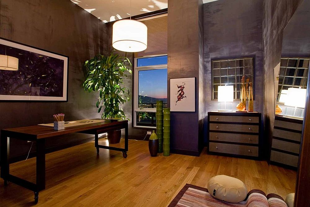 Home office and meditation room rolled into one [Design: Angela Todd Designs]
