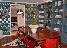 Iconic-David-Hicks-wallpaper-for-midcentury-dining-room-217x155