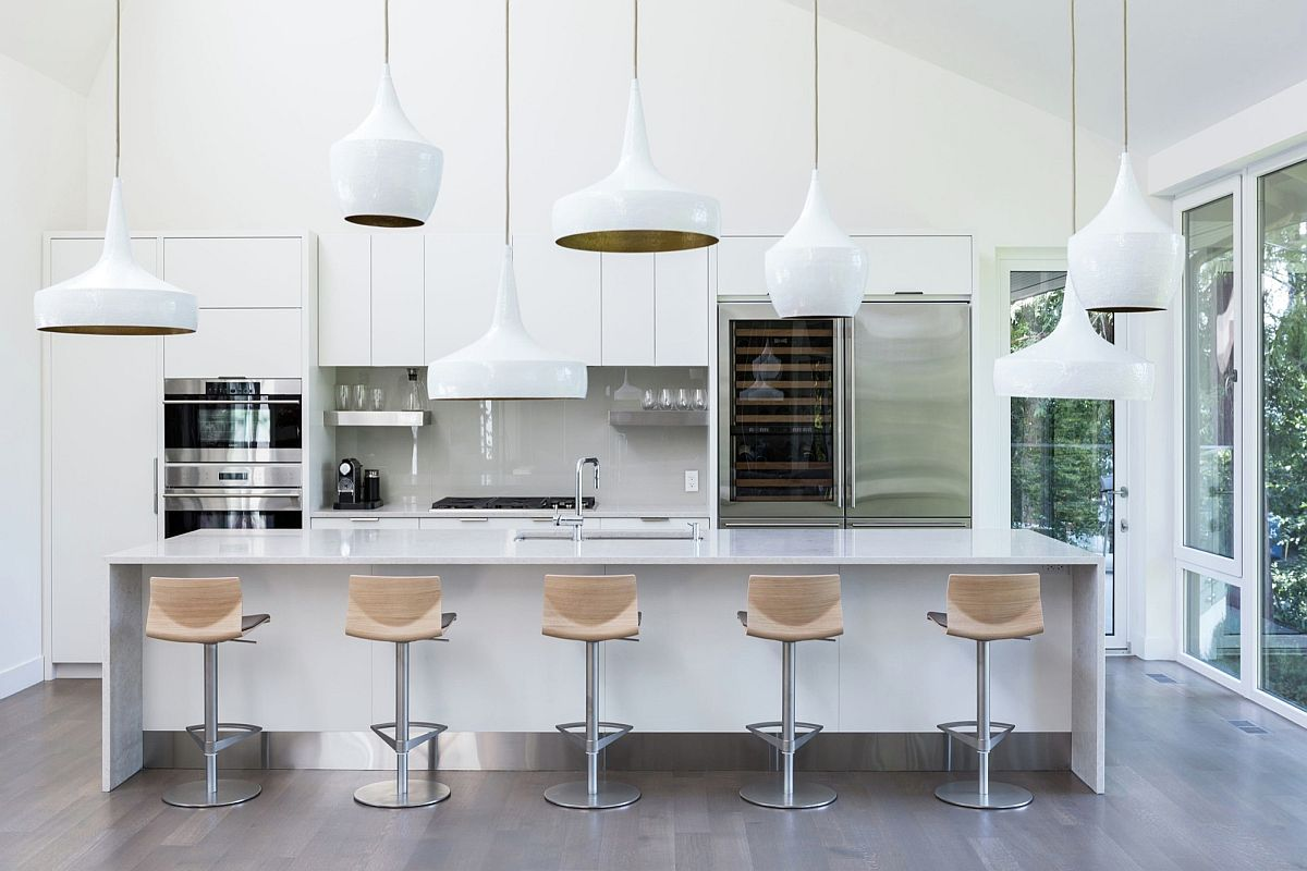Iconic Tom Dixon pendants make quite a visual impact