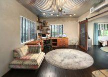 Industrial-home-office-combines-chalkboard-paint-and-sliding-barn-door-217x155