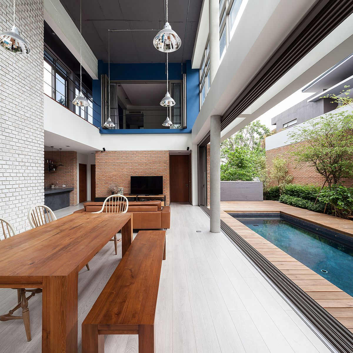 Remarkable House Design Living Space Concepts: Industrial And Modern Side By Side: Two Houses In Bangkok