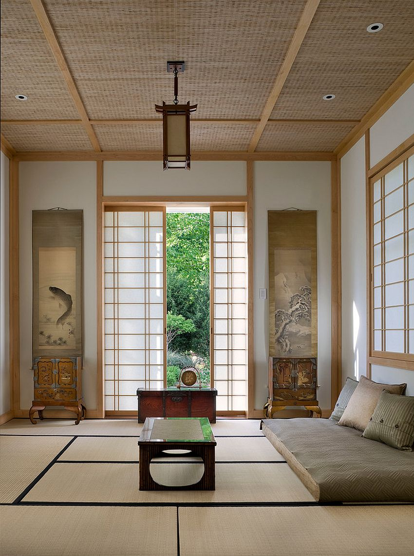 Japanese design elements have become an integral part of the modern meditation room [Design: Michael Whaley Interiors]