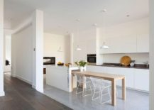 Kitchen area and breakfast nook of the modern home renovated in London