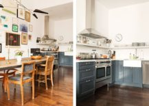 L-shaped-kitchen-in-the-corner-with-grayish-blue-cabinets-with-the-dining-space-in-the-forefront-217x155