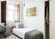 Large window brings ample light into the bedroom