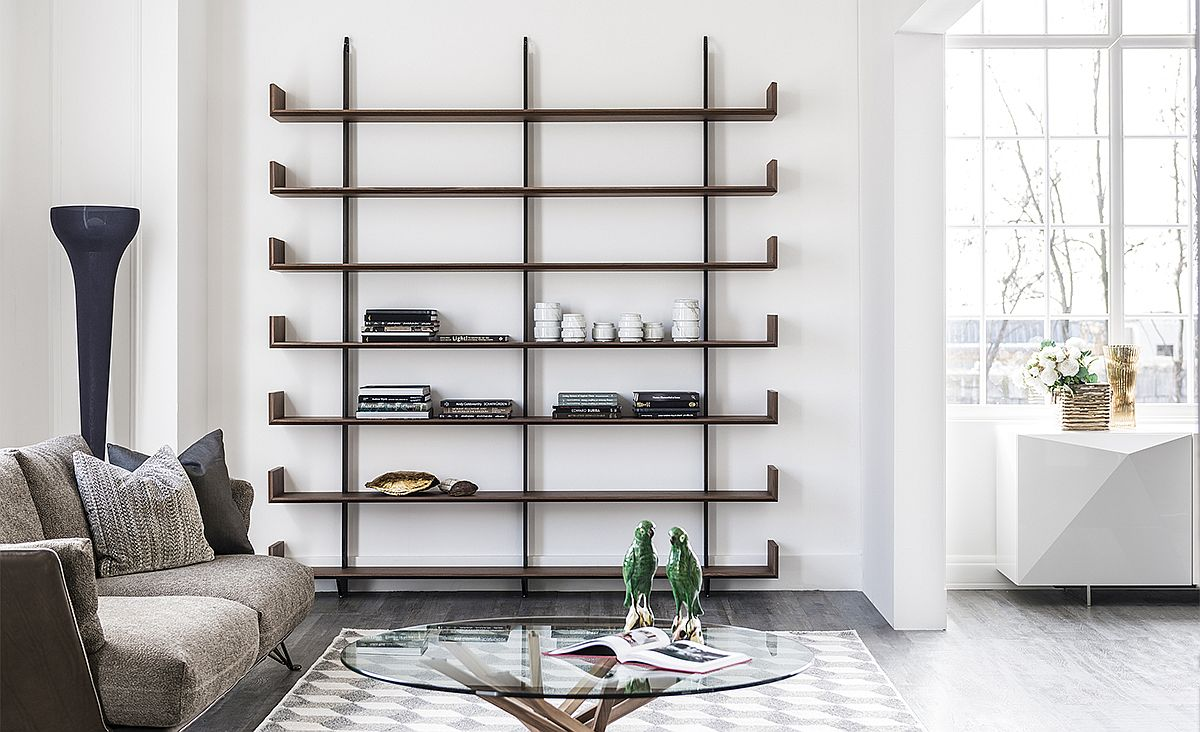 Level wall bookcase by Pierluigi Stella