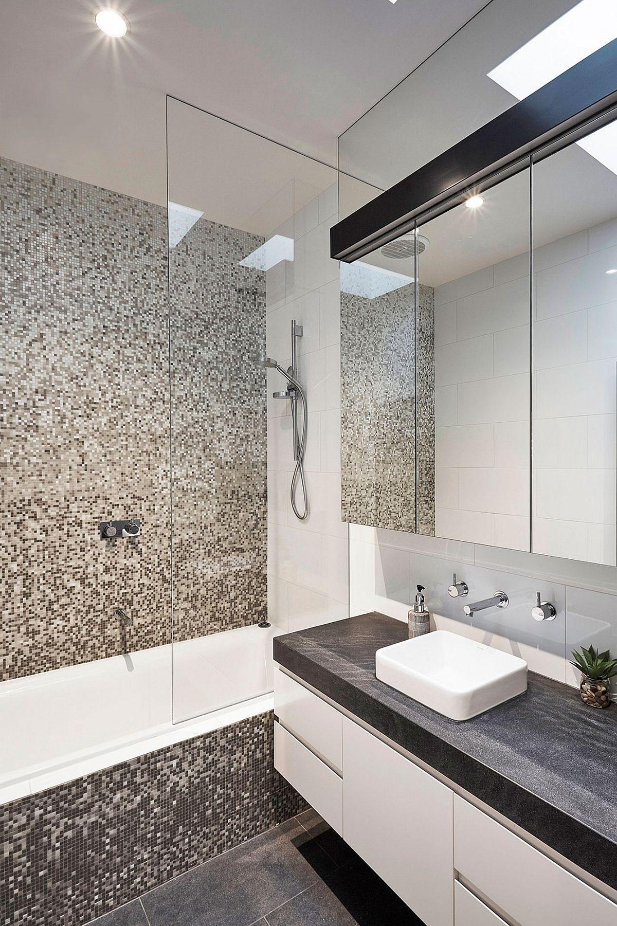 Light-filled contemporary bathroom of Malvern House