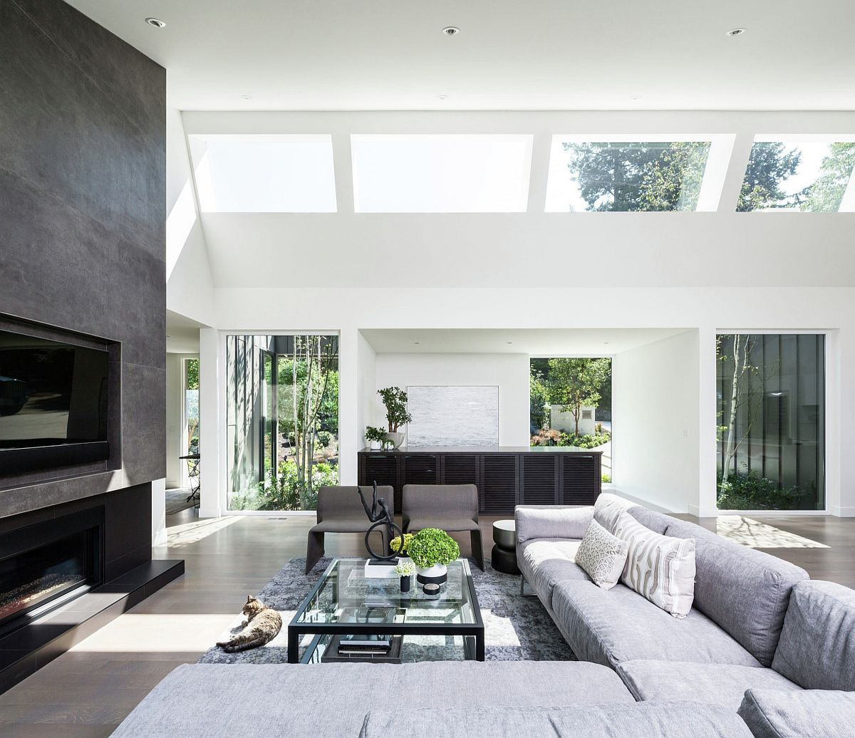 Light Filled Contemporary Living Rooms: Light-filled Living Space Of The St. Georges Private