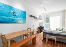 Living area of the Vancouver apartment with space-conscious design