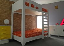 Loft bed saves up space in the kids' space