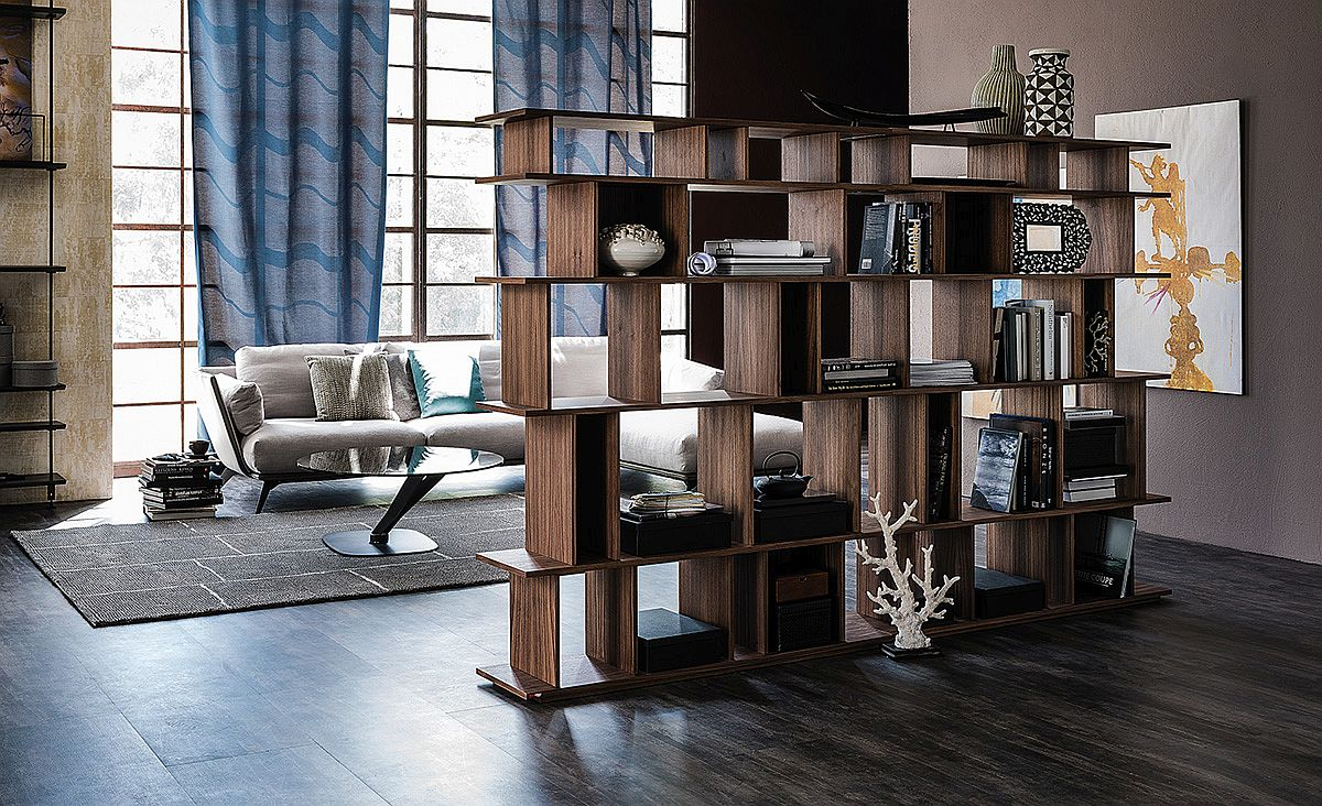 Loft wooden bookshelves from Cattelan Italia