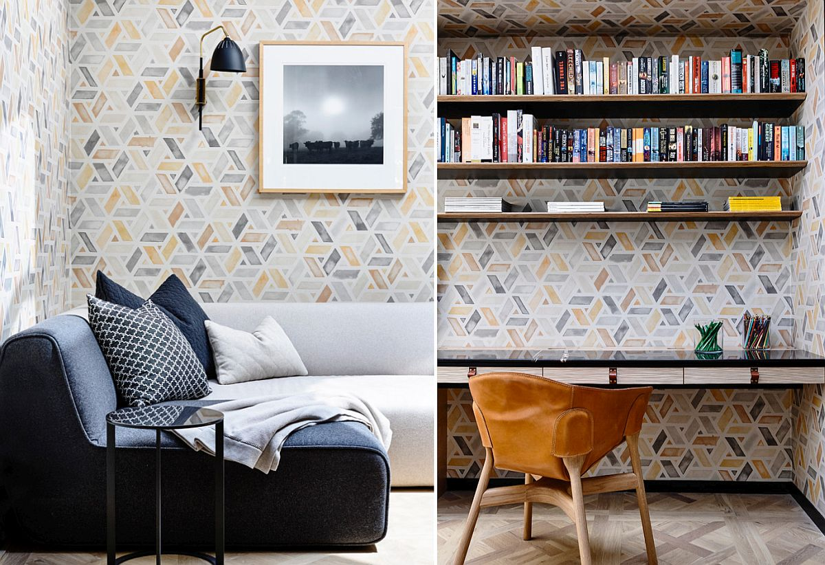 25 Awesome Rooms That Inspire You to Try Out Geometric Wallpaper