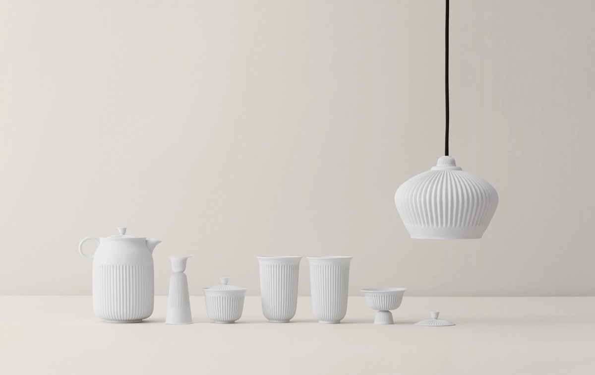 Lyngby Porcelæn's Tsé series is a collaboration with designer Pili Wu and the Taiwanese Han Gallery.