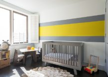 MInimal approach to the use of yellow in the nursery