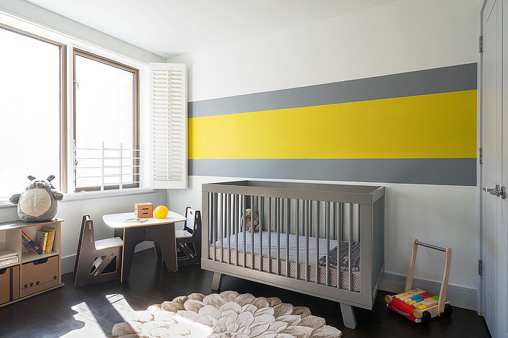 Minimal approach to the use of yellow in the nursery [Design: AbbyElle Style]