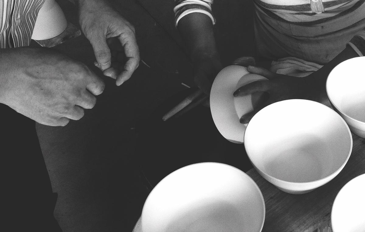 Making Vipp ceramics.
