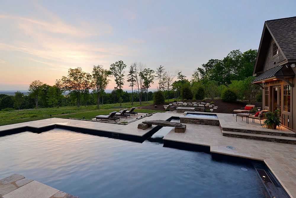 Maybe a large stone is all you need for your rustic pool! [Design: Witt Construction / Randall Perry Photography]