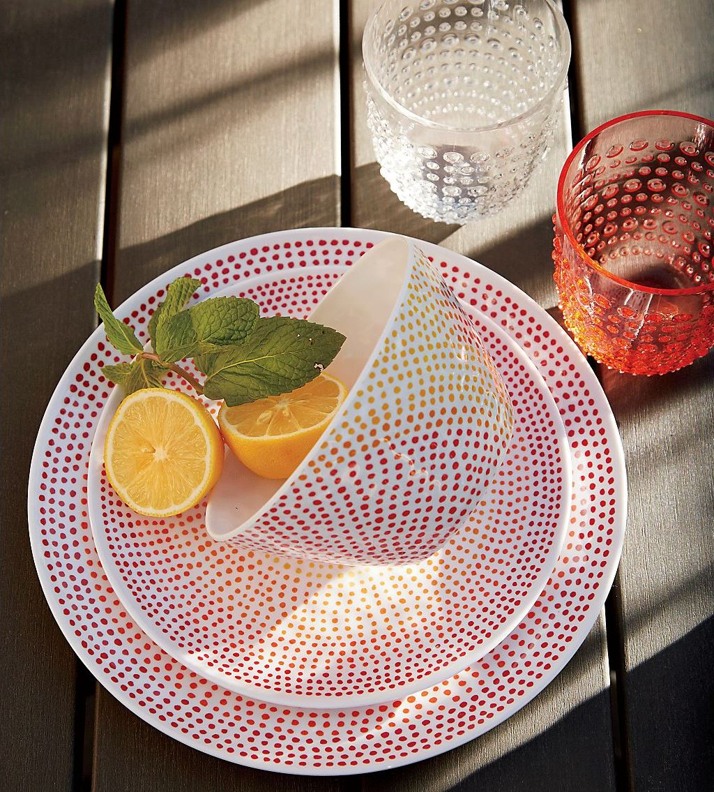 Melamine dinnerware from Crate & Barrel