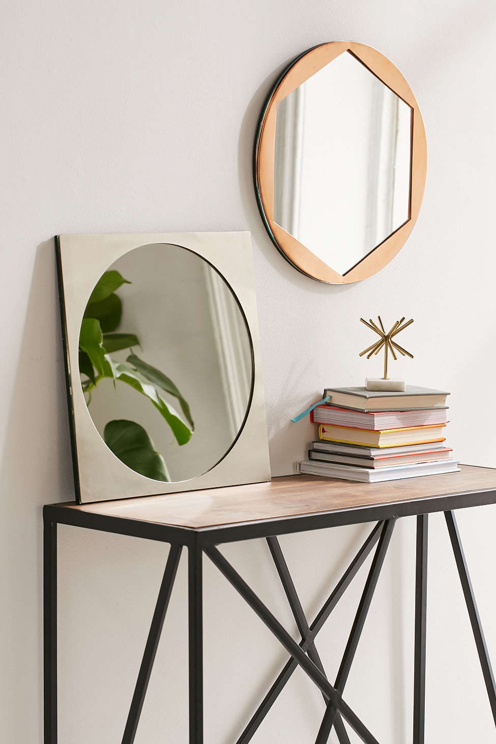 View In Gallery Metal Geo Mirrors From Urban Outers