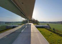 Minimalist villa overlooks stunning forest landscape and natural greenery