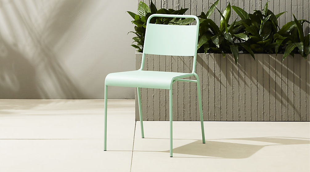 Mint stacking chair from CB2