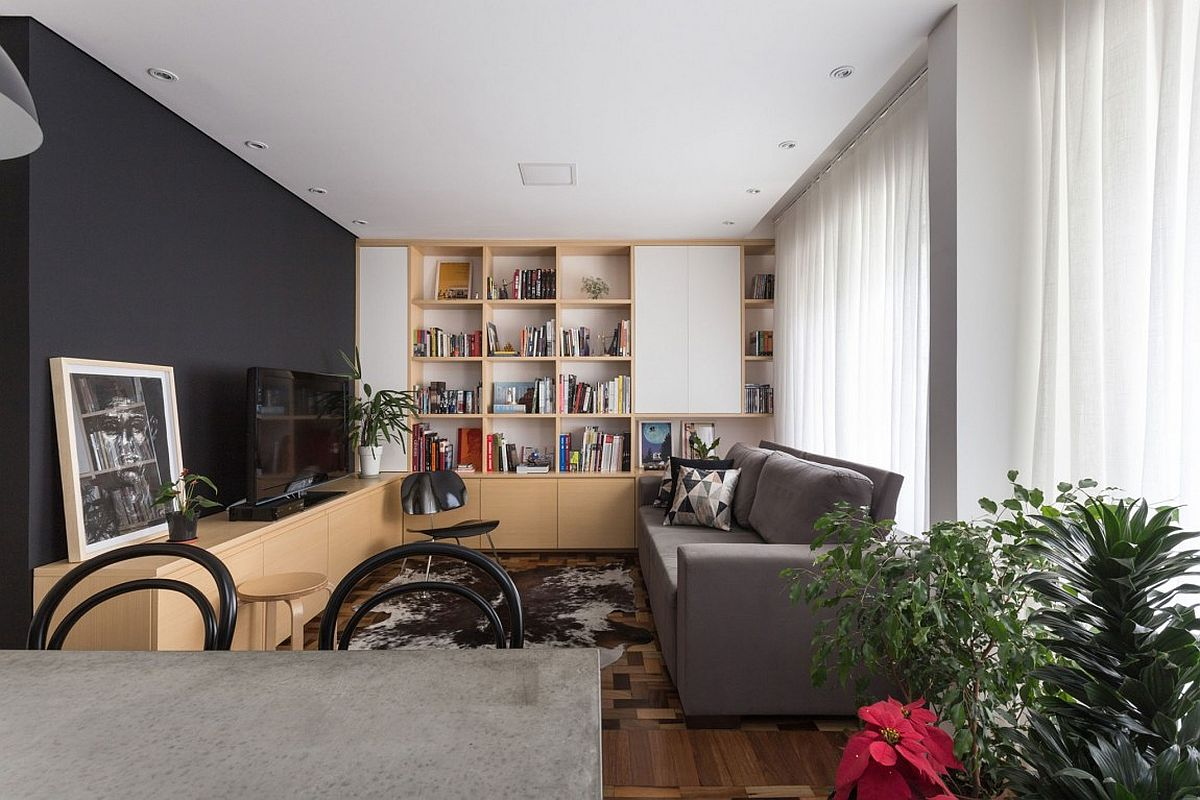 Modern apartment renovation in Porto Alegre Brazil Open Social Zone Sits at the Heart of Small Apartment in Porto Alegre