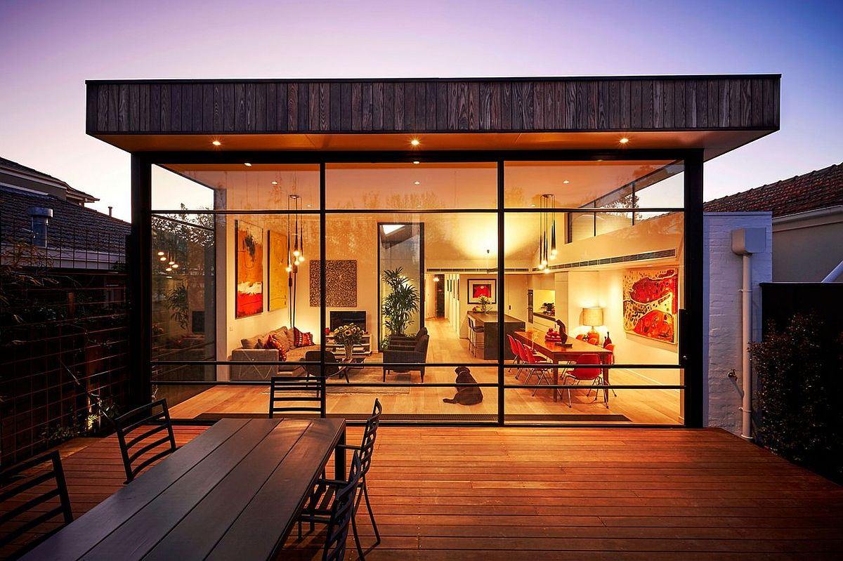 Modern extension to a small, traditional home in Melbourne, Australia